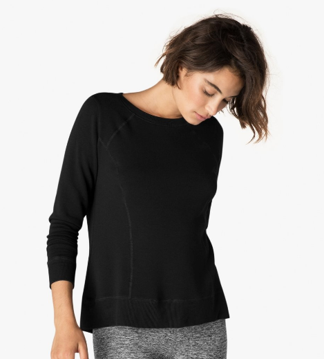 Beyond Yoga Pointed Band Pullover (Black)