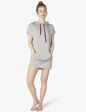 Beyond Yoga It's All Hoodie Dress (Light Heather Gray)