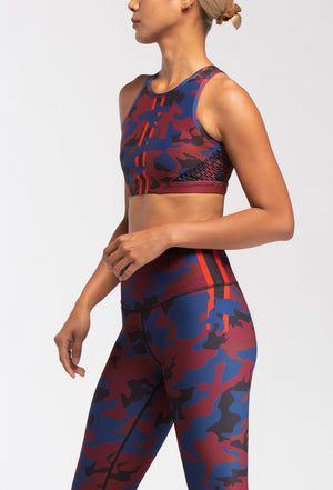 WITH High Neck Bra (Burgundy Camo)