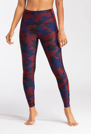 WITH High Waist Legging (Burgundy Camo)