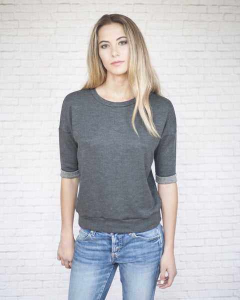 Road 22 Willow Shortsleeve Sweatshirt (Charcoal)