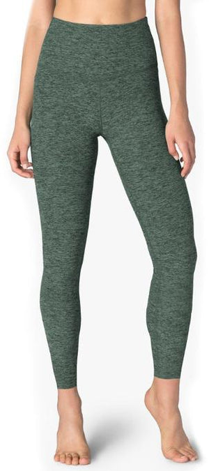 Beyond Yoga High Waisted Midi Legging (Aloha Green/Dark Tropic)