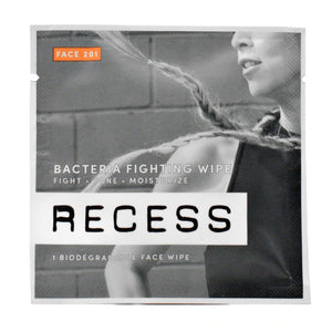 RECESS Face 201: Bacteria Fighting Wipes