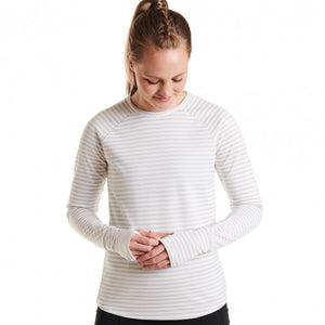 Oiselle Big Stripe Baselayer (Stone)