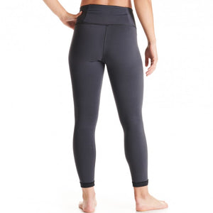 Oiselle Bird Hug Reversible Tights (Black/Granite)