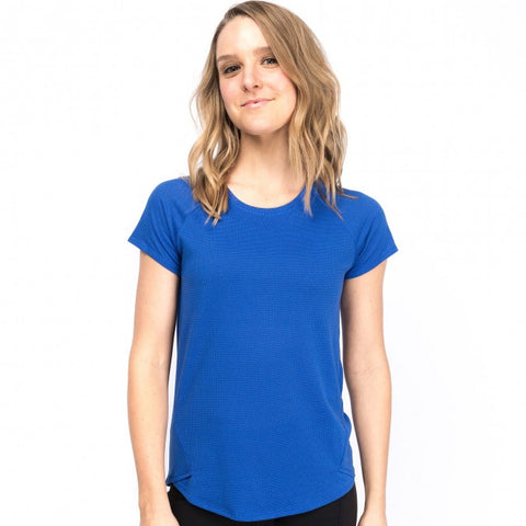 Oiselle Flyout Short Sleeve (Big Blue)