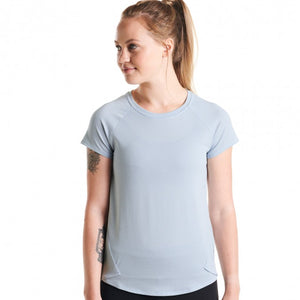 Oiselle Flyout Short Sleeve (Smoke/Cosmos)