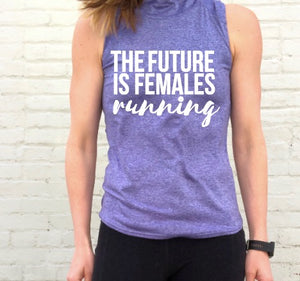 Oiselle Light Lux Mock Neck (Amethyst/Wisteria) x TFIF Running
