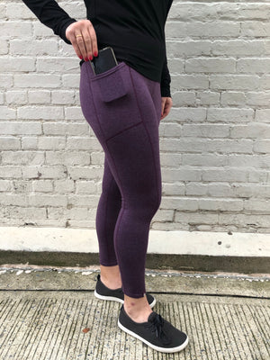 Oiselle Lux Go Anywhere 3/4 Tights (Empire/Mauve)