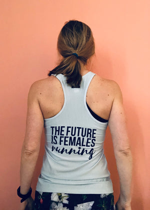Oiselle Simple Stripe Tank X TFIF Running (Mizu)