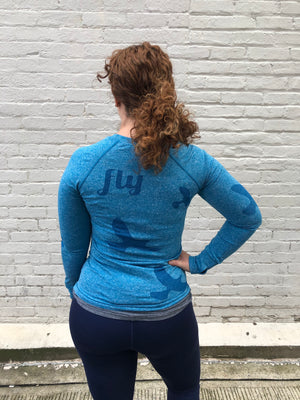 Oiselle Flyte Long Sleeve (Pacific)