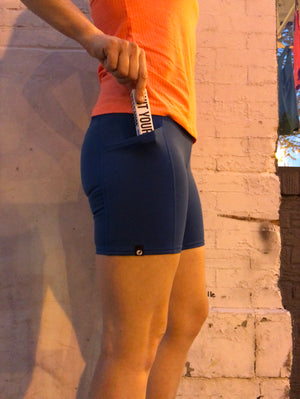 Oiselle Pocket Jogger Shorts (Pacific)