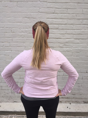 Oiselle Lux Mile One Pullover (Heather Fleur)