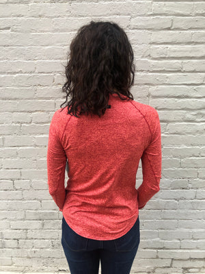 Oiselle Light Lux Long Sleeve (Snap/Red)