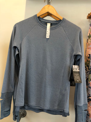Oiselle Flyout Wool Long Sleeve (Pacific)
