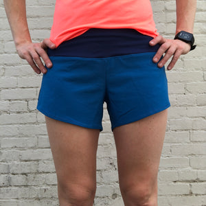 Oiselle Roga Shorts (Pacific)
