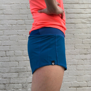 Oiselle Summer Roga Shorts (Pacific)