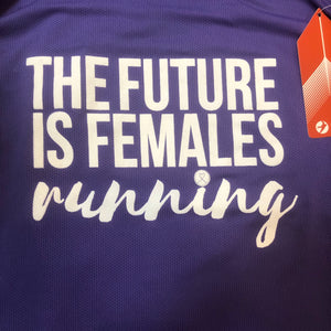 Oiselle Go Tank - The Future Is Females Running (Violet)