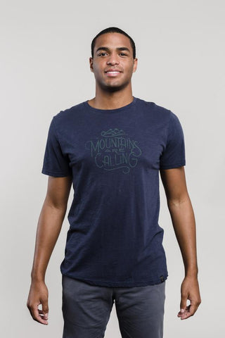 United By Blue Men's And I Must Go Tee (Navy)