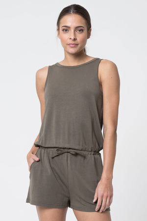 MPG Mirage Modal Luxe Romper (Leaf Green)