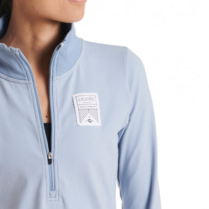Oiselle Race Day Half Zip (Smoke)