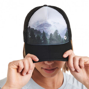 Oiselle Runner Trucker Hat (Foggy Woods)