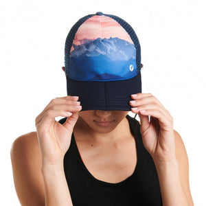 Oiselle Pink Sunrise Runner Trucker Hat