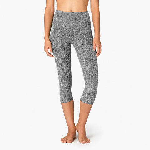 Beyond Yoga Space Dye High Waist Capri (Black/White)