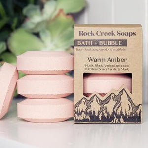 Rock Creek Soaps Bath + Bubble Tablets (Set of 4)