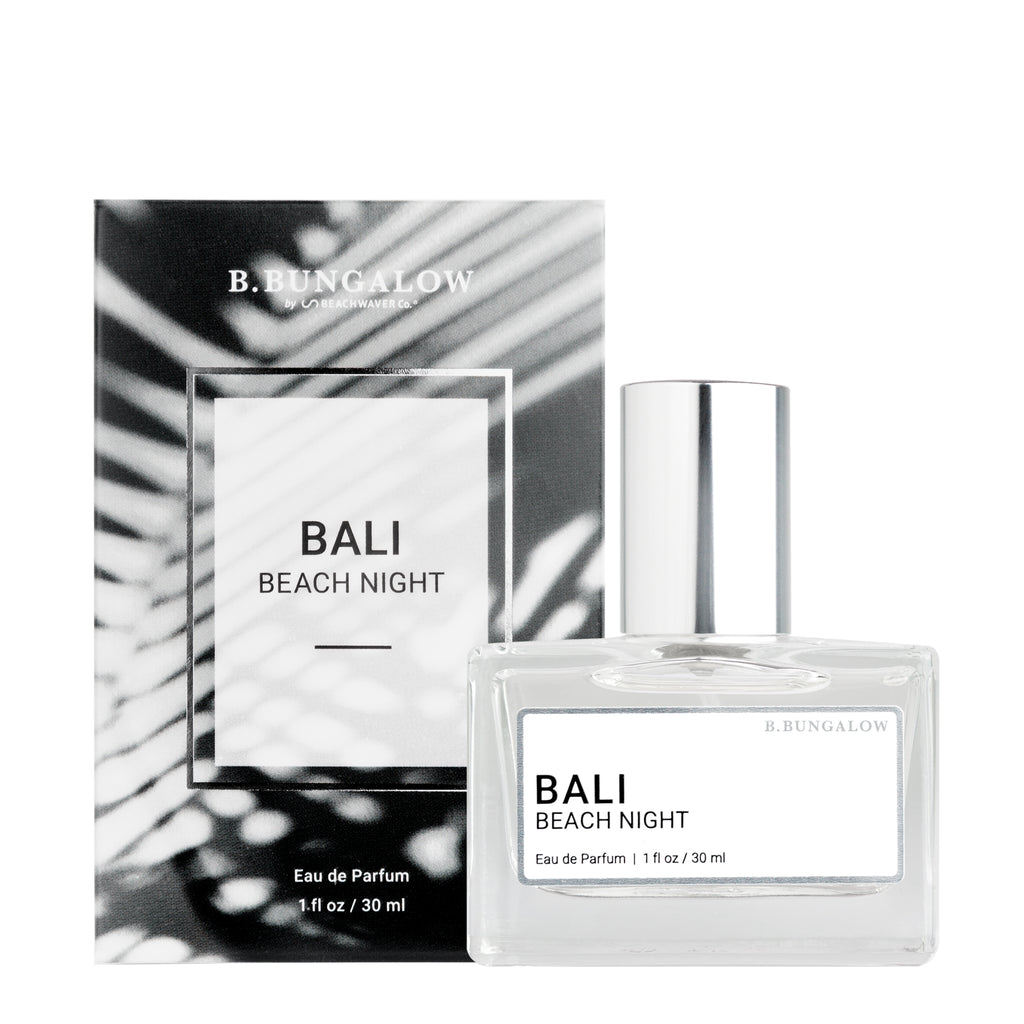 NEW Bali Beach Night fragrance from B. Bungalow and Beachwaver Co. An exotic blend of Australian sandalwood, Hawaiian coconut and Tahitian vanilla.