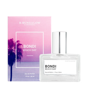 NEW Bondi Beach Day fragrance from B. Bungalow and Beachwaver Co. A delicate blend of Caribbean coconut and Mexican vanilla orchids.