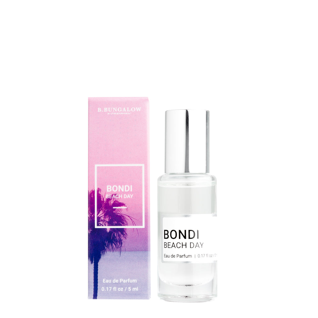 NEW Bondi Beach Day fragrance from B. Bungalow and Beachwaver Co. A delicate blend of Caribbean coconut and Mexican vanilla orchids. Rollerball size for easy travels.