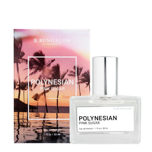 NEW Polynesian Pink Sugar fragrance from B. Bungalow and Beachwaver Co. A delicious blend of Caribbean coconut, fresh Mandarin orange and Hawaiian sugar cane, with notes of rich Louisiana praline and sweet citrus.