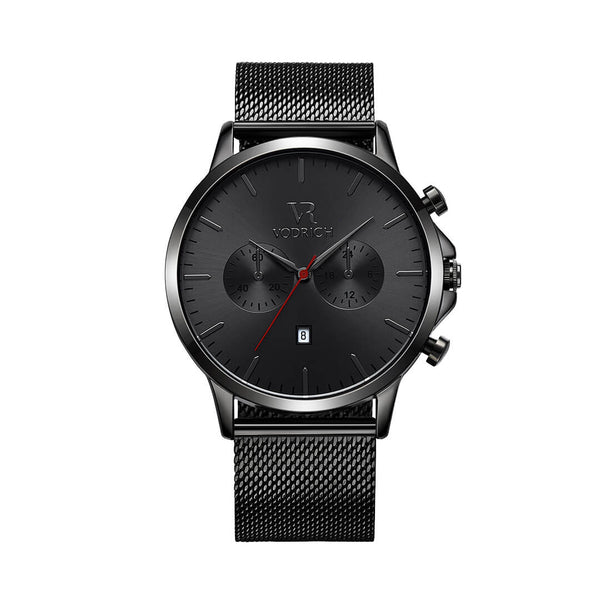 VR Chrono Gunmetal Red - Vodrich