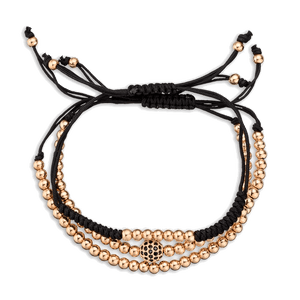 Rose Gold Women S Macrame Stack Wax Coated Rope Vodrich