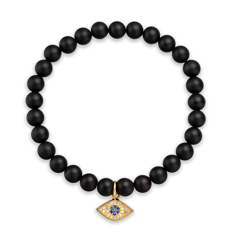 Golden Eye Charm Bracelet - Vodrich