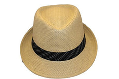 Dorfman Pacific Men's Toyo Fedora With Stripe Band