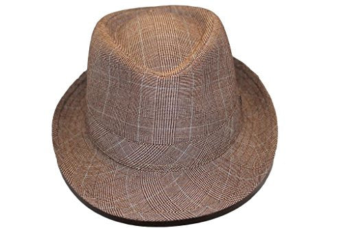 Dorfman Pacific Poly Striped Fedora