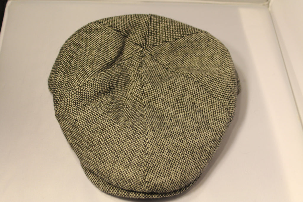Dorfman Pacific Black Wool Blend Ivy Cap