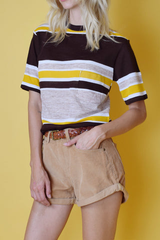 Baja Sunrise 1970's Deadstock Striped Pocket Tee