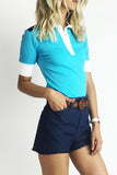Emilio Pucci 1970's Colorblock Polo Shirt