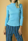 Sweet, Sweet Mary 1970's Ribbed Turtleneck Top