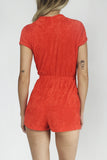 Hit The Rink 1970's Terrycloth Playsuit