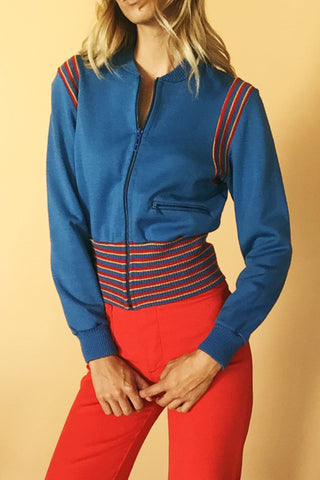 Rainbow Roller Girl 1970's Track Jacket