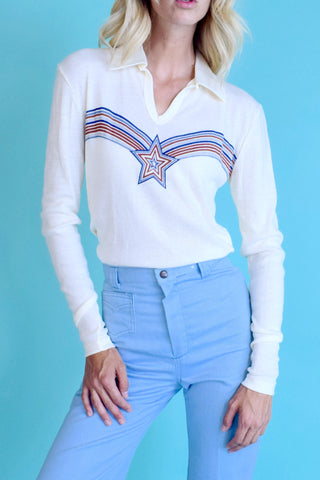 Radio Star 1970's Long Sleeve Collared Shirt