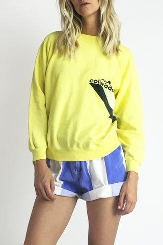 Spring Slopes 1980's Colorado Crewneck Sweatshirt