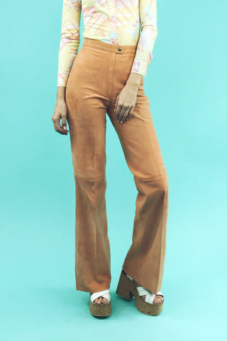 Sweet As A Peach Deadstock 1970's Suede Pants