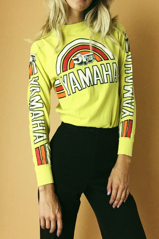 Out In Mojave 1970's Motocross Long Sleeve Tee