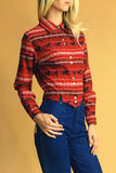 Waylon On The Radio 80's Cropped Western Shirt