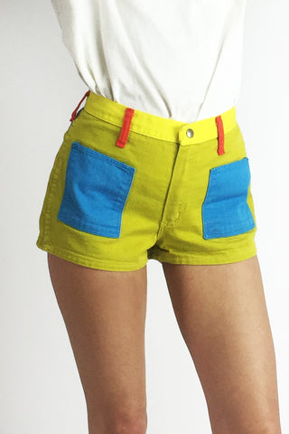 Peter Max 1970's Wrangler Color Block Shorts